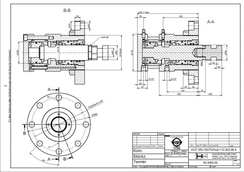Hydraulik Verriegelungszylinder | Heiss