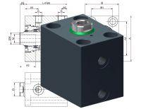 Hydraulik Blockzylinder Heiss HBZ 500, Hydraulikzylinder, Kurzhubzylinder, auch mit Atex-Zulassung erhältlich