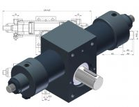 Vérin rotatif HDZ 120 Drehzylinder, Vérin hydraulique