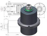 Hydraulik Kurzhubzylinder HKZ 160, Hydraulikzylinder, Kurzhubzylinder, Einschraubzylinder