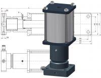 Druckübersetzer, Luft Hydraulik, Druckverstärker