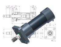Heiss hydraulic standard cylinder SZ 100, can be delivered with Atex-Certification
