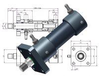 Hydraulikzylinder, Heiss Standardzylinder, SZ mit IN Endlagenabfrage, Endschalter, Induktive Näherungsschalter