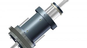 Hydraulic Cylinder with integrated ball bearing spindle