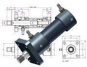 Hydraulikzylinder, Heiss Standardzylinder, SZ mit IN Endlagenabfrage, Endschalter, Induktive N?herungsschalter